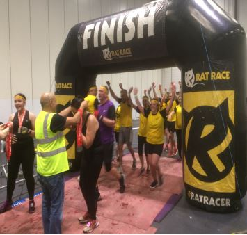 london rat race finish line