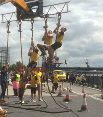 london rat race 2017 rope climbing